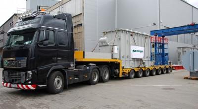 Transport av en transformator