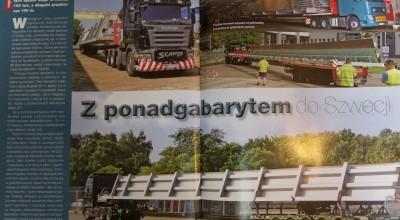"""O transporcie ponadgabarytowym w magazynie """"Polski Traker"""""""
