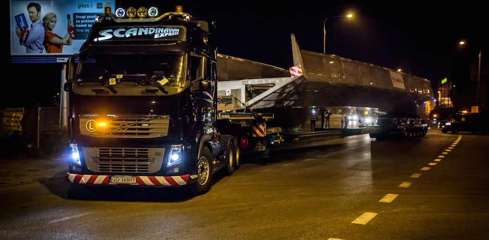 scandinavian Intermodalny transport ponadgabarytowy