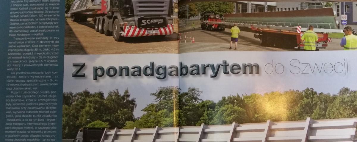scandinavian O transporcie ponadgabarytowym w magazynie