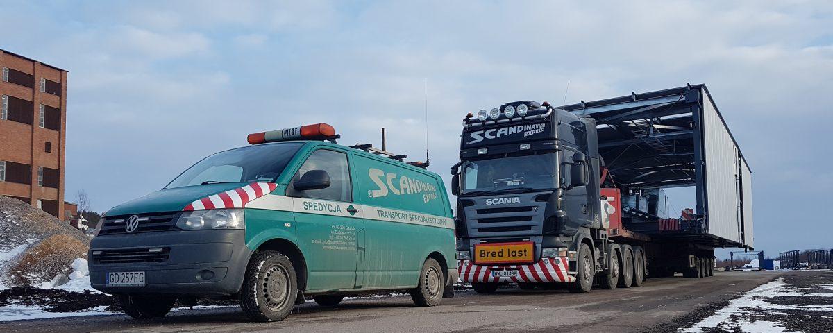 scandinavian Transport ponadgabrytowy dla fabryki opakowań